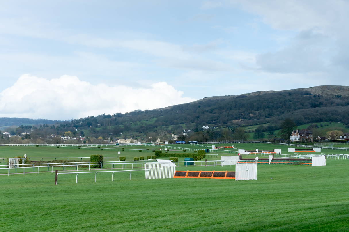 Cheltenham racecourse with jumps